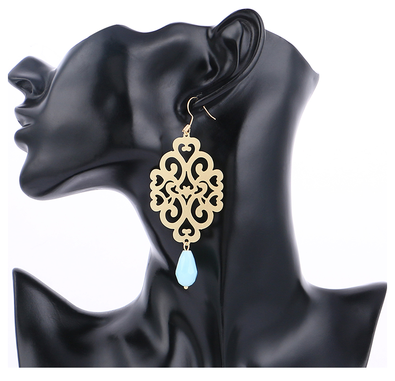 HTB18msGseySBuNjy1zdq6xPxFXa1 - Badu Gold Drop Earring Copper Hollow Out Women Vintage Dangle Earrings Sky Blue Crystal Pendant Fashion Jewelry