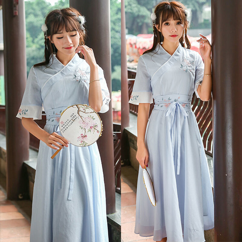 2020 New Girls Women Chinese Ancient Traditional Hanfu Women Fusion Modern Hanbok Tang Dynasty Consum Dress