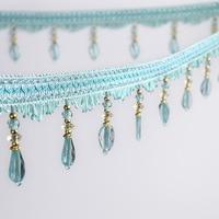 11Yard/Lot Curtain Sewing Trim Tassel Beads Lace Fabric Crafts Garment Sofa decoration Curtain Accessories A045&20
