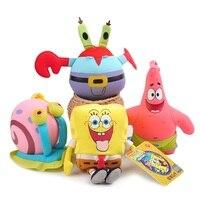 4pcs Cute Soft Plush Toy Nanoparticle Spongebob Patrick Star Mr Krab Gary Toys Gift For Kids