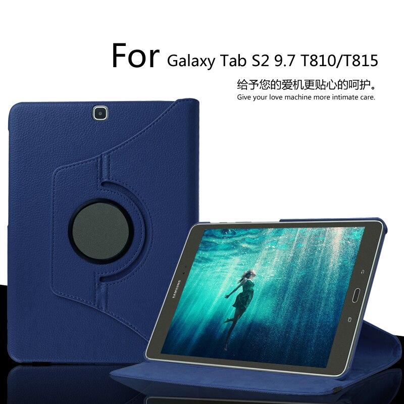 Pour Samsung Galaxy Tab S2 9.7 SM-T810 T815 T819 Cas Flip En Cuir Couverture Réveil Du Sommeil de Stand De Protection Tablette Cas