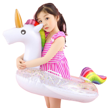 2017 Hot Unicorn Baby Swimming Ring Seat Inflatable Unicorn Pool Float Baby Summer Water Fun Pool Toy Kids Swimming Float 1 pcs baby kids inflatable float seat swimming ring trainer safety aid pool water toy xr hot water safety life buoy