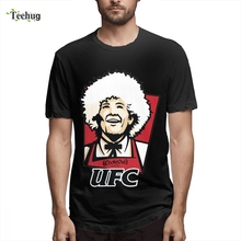 UFC-KFC - Khabib Nurmagomedov Short Sleeve Funny Men Crazy 3D Print Birthday gift Homme Tee Shirt For Boy