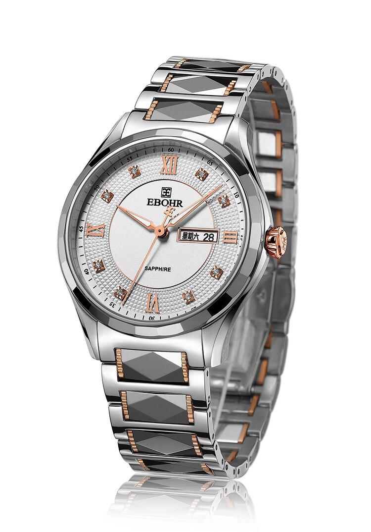 EBOHR marque dames montre mode dames Quartz montre bracelet horloge décontractée cadeau montre de luxe 2019 nouveau style Ebohr 10760321 (F)