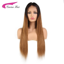 Carina Peruvian Straight Hair Lace Front Human Hair Wigs With Baby Hair Natural Hairline Glueless Wigs Non-Remy Hair