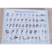 Presser Foot Feet Kit Set For Brother Singer Janome 52pcs Domestic Sewing Machine Braiding Blind Stitch Darning