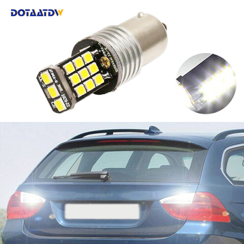 DOTAATDW 1x New White 1156 BA15S P21W LED Car Bulb Reverse Light For BMW 3/5 SERIES E30 E36 E46 E34 X3 X5 E53 E70 Z3 Z4 image