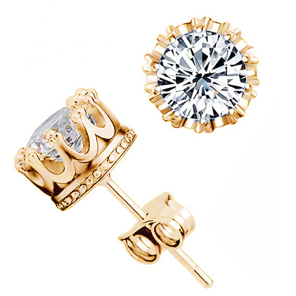 etify crown products earrings featured crystal stud