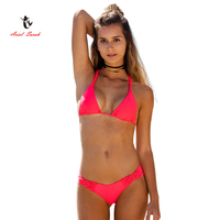 Hot 2017 Ariel Sarah Brand Q008 Bikini Cheap Swimwear Biquinis Feminino 2017 Brasileiro Cintura Alta Women