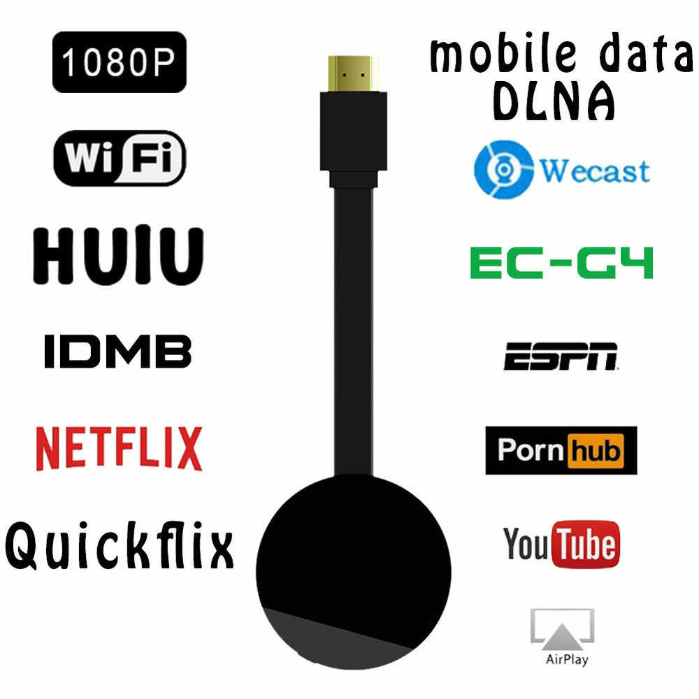G4 TV Stick Smart TV Dongle untuk Android Netflix Miracast WiFi HDMI Adaptor Nirkabel TV Dongle Tampilan Media Streamer Stick