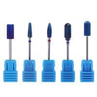 5Pcs Alloy Tungsten Nail Art Dill Bits for Electric Manicure Machine Nail Tips Toenails Polishing Sanding Drill Bits Nail Tool