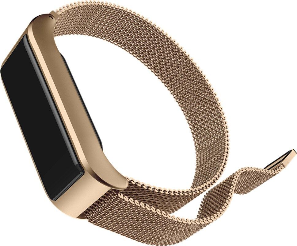 B29 Milan Steel Smart Reminder Heart Rate Monitor Waterproof Meter Step Movement Guided Tracking Bracelet