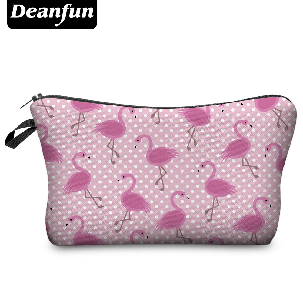 Deanfun Fashion Brand Cosmetic Bags  Hot-selling Women Travel Makeup Case H66 deanfun travel cosmetic bag 2016 hot selling women brand small makeup case 3d printing christmas gift water pig h46