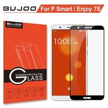 Original BUJOO 2.5D 0.3mm 9H Full Cover Tempered Glass For Huawei P Smart Psmart Huawei Enjoy 7S Screen Protector Film