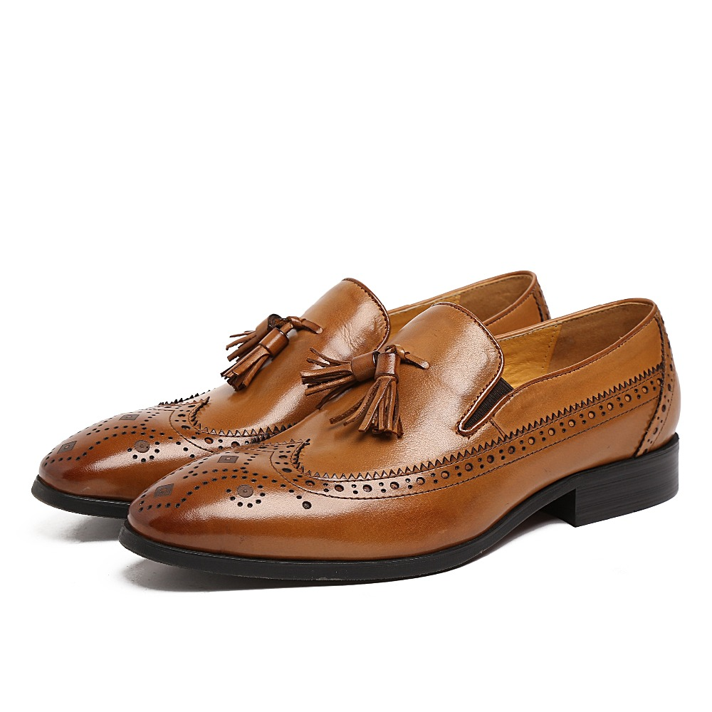 Father s font b Shoes b font Black brown loafers font b mens b font dress
