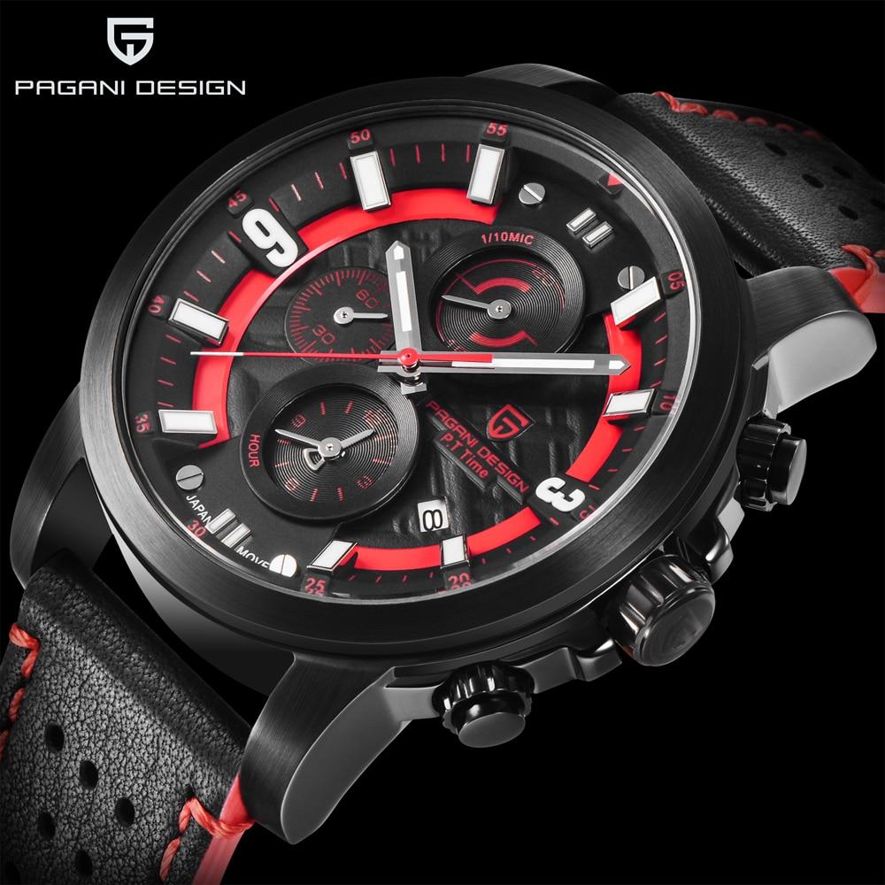 PAGANI DESIGN Mens Watches Top Brand Luxury 2018 New Business Mens Quartz Watches Fashion Sports Leather Clock Relogio Masculino