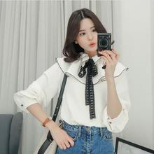 12a57187561a2 garate ama duan Spring Summer Cute Girl Layers Ruffles Blouse Bow Tie Puff  Sleeve. US  19.97   piece Free Shipping
