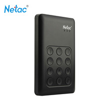 Netac Original K390 USB 3.0 External Hard Drive Disk 2TB 1TB 500GB Keypad Lock AES 256-bit Hardware Encryption HDD