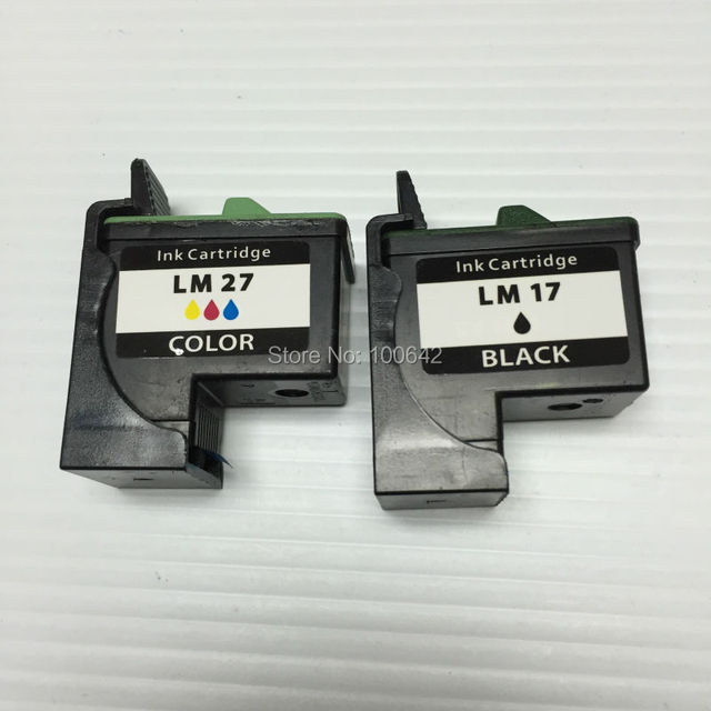 YOTAT For Lexmark 17 27 ink cartridge LM17 LM27 for Lexmark Z605 Z615 X1100 X1150 X1270 i3 Z13 Z23 Z34 Z515 Z517 Z600 Z603 X22