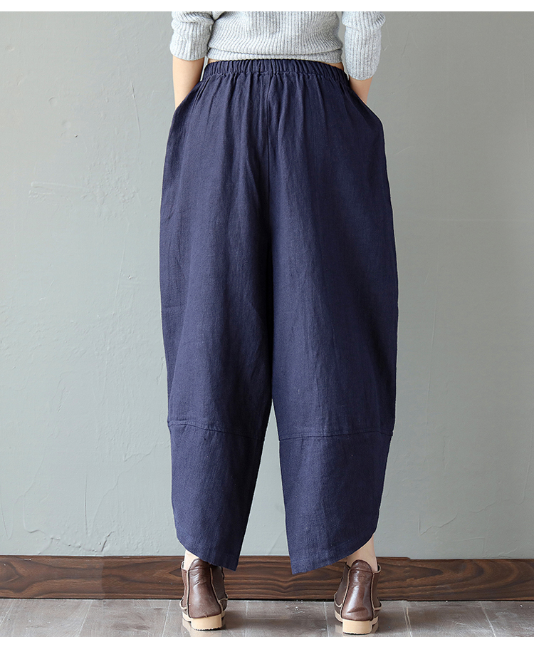 1f1424f71c61 POPOKi Široké letné bavlnené nohavice HAREM PLUS SIZE