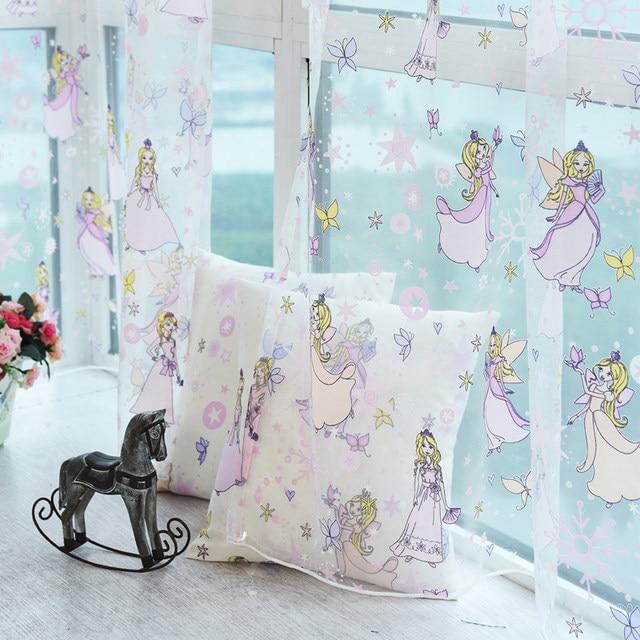 Neue Baumwolle Material Kinder Prinzessin Zimmer Cartoon Tulle Mädchen  Fenster Vorhänge Für Wohnzimmer Schlafzimmer Blackout Vorhänge