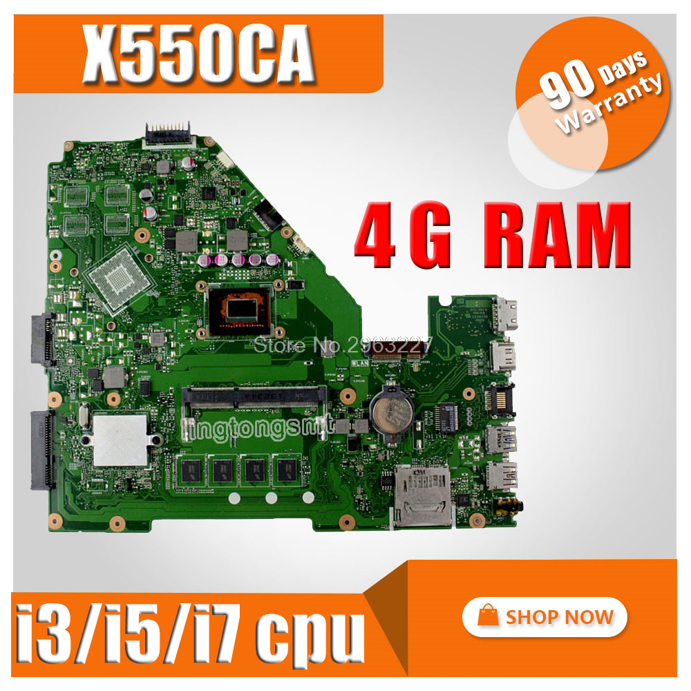 X550CA Laptop Motherboard For ASUS X550C X550CC X550CL Y581C R510C Mainboard Test Ok 2GB 4GB RAM 1007U 2117U I3/i5/i7 Cpu
