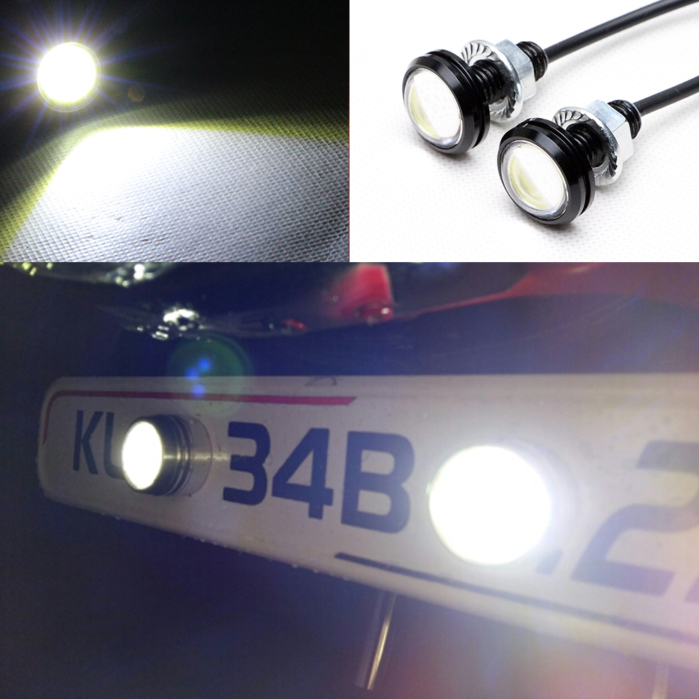 New Ultra-Thin 6W Eagle Eye Lamp LED For Daytime Running Light DRL Lamp Fog Waterproof Exterior automotive eagle eyes for car leadtops 10 pack car light diy 12v ultra thin fog tail eagle eye light car daytime running lights ice blue light silver ce
