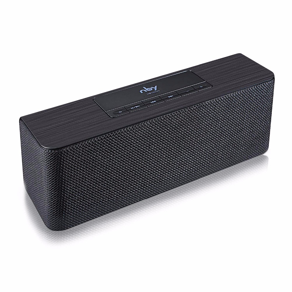 NBY 5540 Portable Wireless Bluetooth Speaker Stereo Sound 10W System Music Subwoofer Column Speakers for Computer wooden bluetooth speaker wireless outdoor handsfree stereo subwoofer portable speakers 3600mah big power 10w 2 speaker