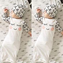 Одежда для новорожденных; одежда для сна с глазами+ розовые щеки; детская шапочка; одежда для сна для новорожденных; спальные мешки