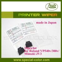 10 шт./лот [сделано в Японии] Mimaki JV3 стеклоочиститель принтер для Roland VP540v/300 В DX4 растворителя чистую wipper