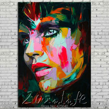 Palette knife painting portrait Palette knife Face Oil painting Impasto figure on canvas Hand painted Francoise Nielly 18