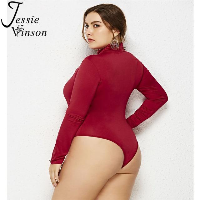 Jessie vinson γυναικείο κορμάκι ζιβάγκο εφαρμοστό 5xl 6xl