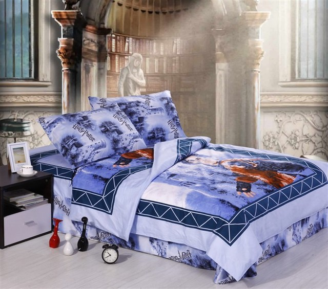 Christmas Gift 100%cottonsets Harry Potter Bedroom Set /anime Chilrd Kids  Bed/girls
