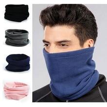 Polar de lana cuello calentador del oído polaina de cara máscara cinta térmica  de invierno cálido 8cd7dc2d820