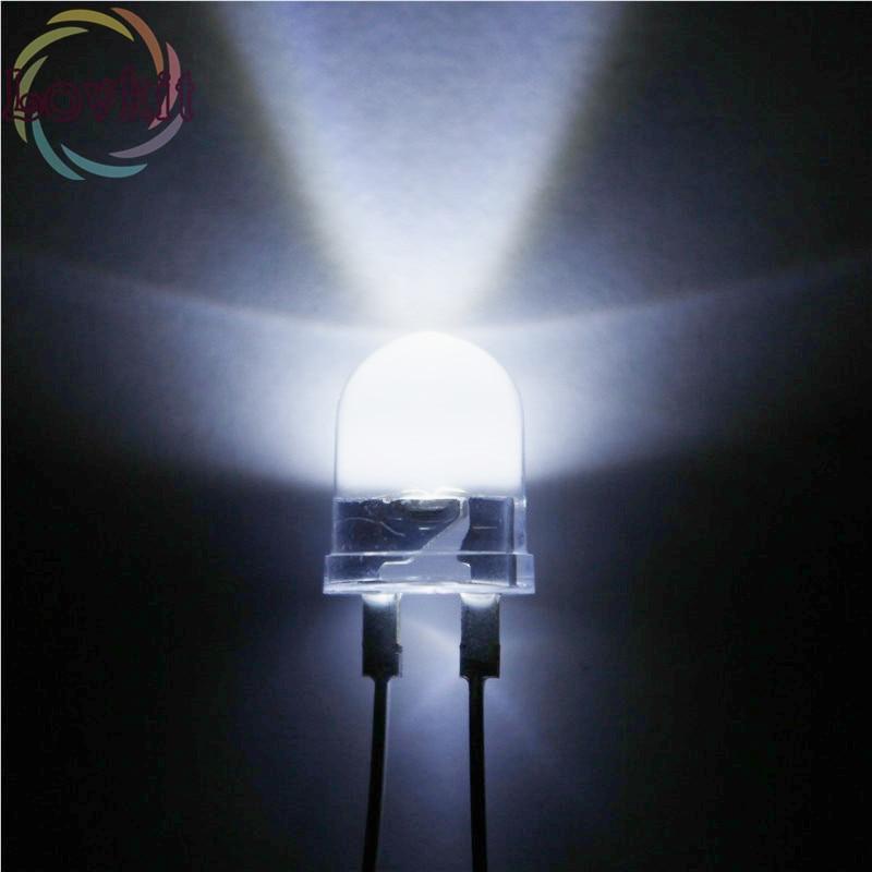20pcs Blue LED 3mm Diffused Round Lens Light Emitting Diode-USA