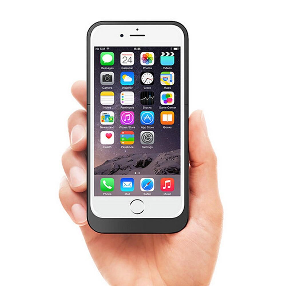 bilder für Portable Backup Externes Ladegerät Fall Energienbank Pack Ladekoffer für iPhone 6 6 s Plus 3800 mah/6800 mah Schwarz