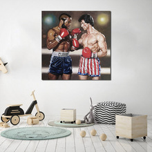 Stallone VS Clubber Lang Boxing Canvas Painting Print Bedroom Home Decor Modern Wall Art Oil Poster Salon Pictures HD