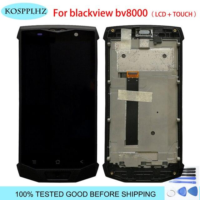 5.0 بوصة ل Blackview BV8000 / BV8000 برو شاشة الكريستال السائل + شاشة تعمل باللمس مع الجمعية الإطار الأصلي اختبار bv 8000 + أداة