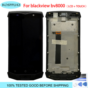5.0inch For Blackview BV8000 / BV8000 Pro LCD Display + Touch Screen With Frame Assembly original tested bv 8000 + Tool