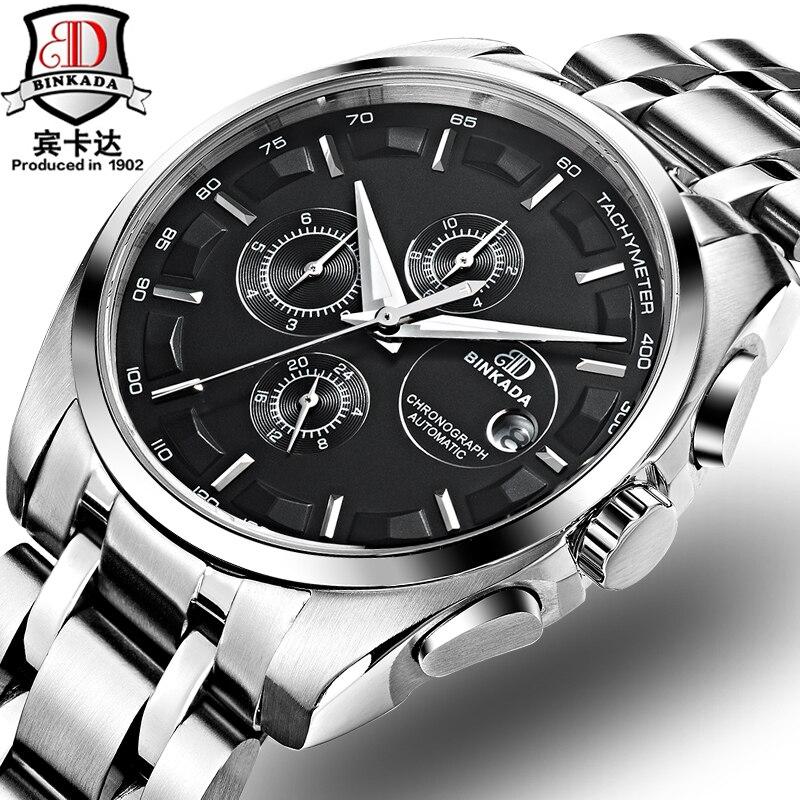 Automatic watch mens mechanical brand luxury BINKADA orologi tourbillon  clock men sports watch swiss military automatik watch-in Mechanical Watches  from ... ffdc98f0fbb