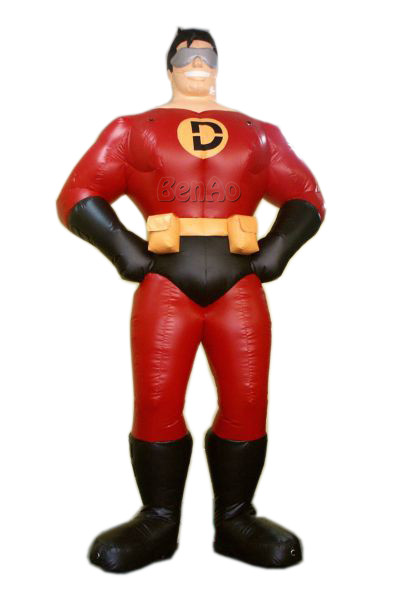 AC238 Free shipping+blower 6m Advertising inflatable moving walking cartoon superman characters/ Inflatable standing superman заклепочник santool 238 мм 032202 238