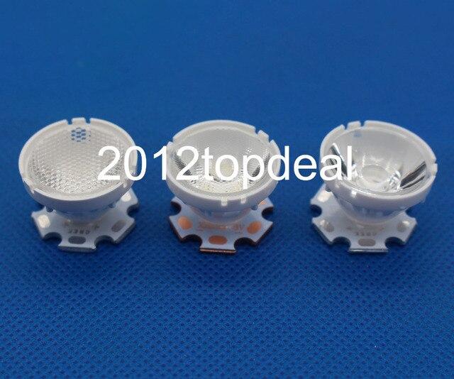 10 pièces CREE XML LED XML2 LED XHP50 LED Lentille 20mm support blanc 10/25/45/60 degrés LED LENTILLE/Réflecteur Collimateur