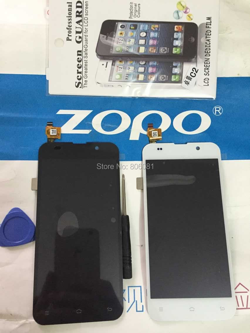 Capacitive touchscreen display LCD5 0 ZOPO ZP980 C2 C3 ZP980 6589T LCD touch screen digitizer Black