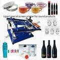 Трафаретная печатная машина руководство шелкография для бутылки/чашки/кружки/ручки
