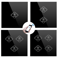 UK Smart Switch WiFi / APP / Touch Control Wall Light Switch 1 /2 /3/4 CH UK Panel Wall Touch Light Switch Smart Home Switch