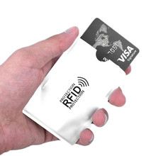 5pcs/lot Card Case 100% Genuine Anti-Scan Credit RFID Protective Anti-Magnetic Holder Bag Wholesale