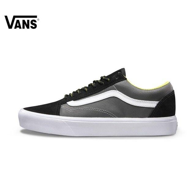 Original Vans New Arrival Black and Gray Color Low-Top Men s Skateboarding  Shoes Sport Shoes fa4fe5290