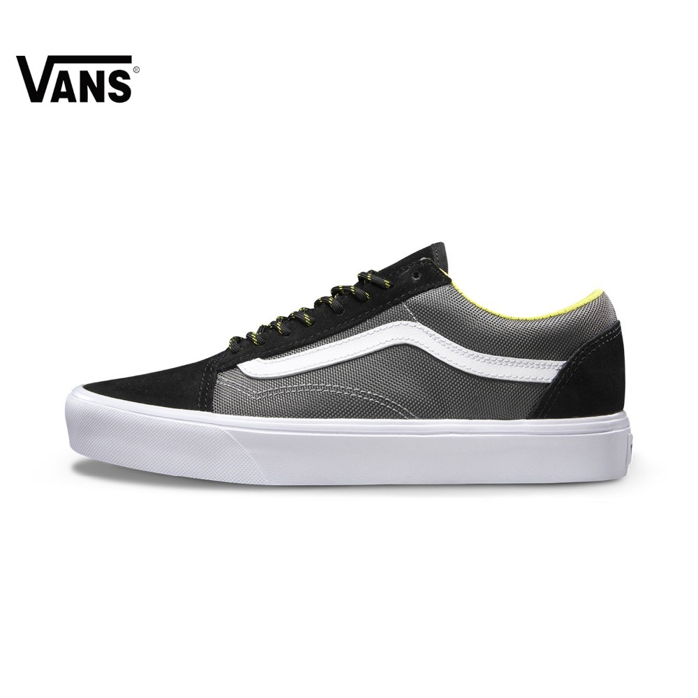 Original Vans New Arrival Black and Gray Color Low-Top Men's Skateboarding Shoes Sport Shoes Sneakers free shipping
