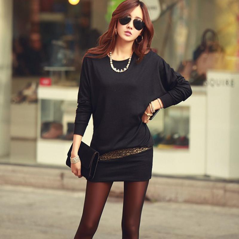 2018 Sexy Women Spring Autumn Dress Slim Long Sleeve O-neck Hip Cover DressChiffon Slim Figure Women Clothing