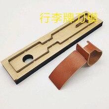 DIY дизайнер 40 мм Кожа ремесло чемодан тег Штампованный нож для резки Плесень ручной удар инструмент